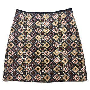 Ann Taylor Loft Tapestry Pencil Skirt Size 8